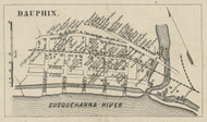 Dauphin - Dauphin Co., Pennsylvania 1858 Old Town Map Custom Print - Dauphin Co.