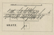 Gratz - Dauphin Co., Pennsylvania 1858 Old Town Map Custom Print - Dauphin Co.