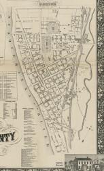 Harrisburg - Dauphin Co., Pennsylvania 1858 Old Town Map Custom Print - Dauphin Co.