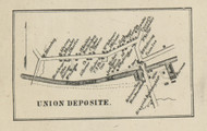 Union Deposit - Dauphin Co., Pennsylvania 1858 Old Town Map Custom Print - Dauphin Co.