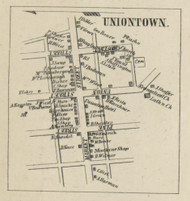 Uniontown - Dauphin Co., Pennsylvania 1858 Old Town Map Custom Print - Dauphin Co.