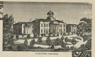 Capitol Building at Harrisburg - Dauphin Co., Pennsylvania 1858 Old Town Map Custom Print - Dauphin Co.