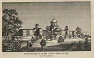 Pennsylvania State Lunatic Hospital - Dauphin Co., Pennsylvania 1858 Old Town Map Custom Print - Dauphin Co.