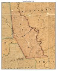 Aston Township, Pennsylvania 1848 Old Town Map Custom Print - Delaware Co.