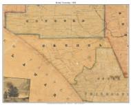 Bethel Township, Pennsylvania 1848 Old Town Map Custom Print - Delaware Co.