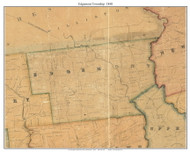 Edgemont Township, Pennsylvania 1848 Old Town Map Custom Print - Delaware Co.
