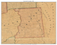 Haverford Township, Pennsylvania 1848 Old Town Map Custom Print - Delaware Co.