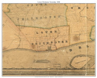 Lower Chichester Township, Pennsylvania 1848 Old Town Map Custom Print - Delaware Co.