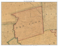 New Town Township, Pennsylvania 1848 Old Town Map Custom Print - Delaware Co.