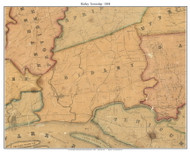 Ridley Township, Pennsylvania 1848 Old Town Map Custom Print - Delaware Co.