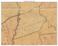 Springfield Township, Pennsylvania 1848 Old Town Map Custom Print - Delaware Co.