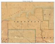 Thornbury Township, Pennsylvania 1848 Old Town Map Custom Print - Delaware Co.