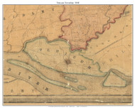 Tinicum Township, Pennsylvania 1848 Old Town Map Custom Print - Delaware Co.