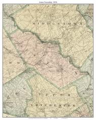 Aston Township, Pennsylvania 1876 Old Town Map Custom Print - Delaware Co.