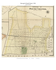 Borough of South Chester, Pennsylvania 1876 Old Town Map Custom Print - Delaware Co.