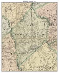 Springfield Township, Pennsylvania 1876 Old Town Map Custom Print - Delaware Co.