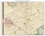 West Goshen & East Goshen Townships, Pennsylvania 1876 Old Town Map Custom Print - Chester Co.