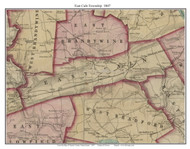 East Caln Township, Pennsylvania 1847 Old Town Map Custom Print - Chester Co.