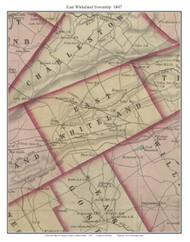East Whiteland Township, Pennsylvania 1847 Old Town Map Custom Print - Chester Co.