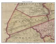 Sadsbury Township, Pennsylvania 1847 Old Town Map Custom Print - Chester Co.