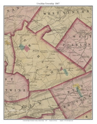 Uwchlan Township, Pennsylvania 1847 Old Town Map Custom Print - Chester Co.