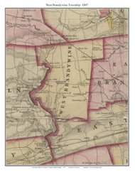 West Brandywine Township, Pennsylvania 1847 Old Town Map Custom Print - Chester Co.