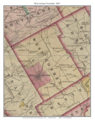 West Goshen Township, Pennsylvania 1847 Old Town Map Custom Print - Chester Co.