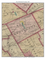 West Whiteland Township, Pennsylvania 1847 Old Town Map Custom Print - Chester Co.
