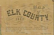 Title of Source Map - Elk Co., Pennsylvania 1855 - NOT FOR SALE - Elk Co.