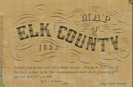 Title of Source Map - Elk Co., Pennsylvania 1855 - NOT FOR SALE - Elk Co.