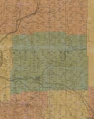 Benzinger Township, Pennsylvania 1855 Old Town Map Custom Print - Elk Co.