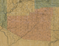 Fox Township, Pennsylvania 1855 Old Town Map Custom Print - Elk Co.