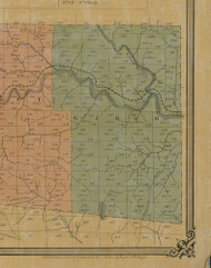 Gibson Township, Pennsylvania 1855 Old Town Map Custom Print - Elk Co.