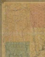 Highland Township, Pennsylvania 1855 Old Town Map Custom Print - Elk Co.