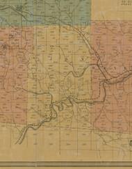 Jay Township, Pennsylvania 1855 Old Town Map Custom Print - Elk Co.