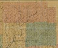 Jones Township, Pennsylvania 1855 Old Town Map Custom Print - Elk Co.