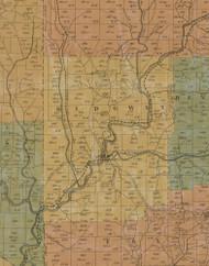 Ridgway Township, Pennsylvania 1855 Old Town Map Custom Print - Elk Co.