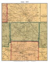 Amity Township, Pennsylvania 1855 Old Town Map Custom Print - Erie Co.