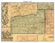 Conneaut Township, Pennsylvania 1855 Old Town Map Custom Print - Erie Co.