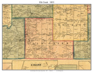 Elk Creek Township, Pennsylvania 1855 Old Town Map Custom Print - Erie Co.