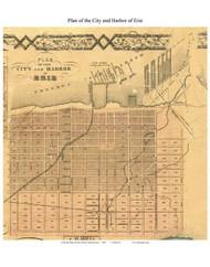 Erie City , Pennsylvania 1855 Old Town Map Custom Print - Erie Co.