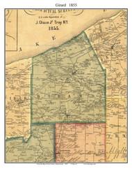 Girard Township, Pennsylvania 1855 Old Town Map Custom Print - Erie Co.