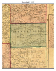 Greenfield Township, Pennsylvania 1855 Old Town Map Custom Print - Erie Co.