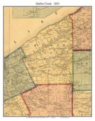 Harbor Creek Township, Pennsylvania 1855 Old Town Map Custom Print - Erie Co.