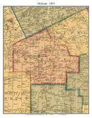 McKean Township, Pennsylvania 1855 Old Town Map Custom Print - Erie Co.