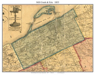 Mill Creek Township, Pennsylvania 1855 Old Town Map Custom Print - Erie Co.