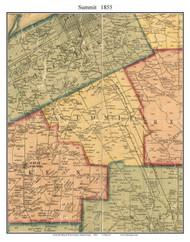Summit Township, Pennsylvania 1855 Old Town Map Custom Print - Erie Co.