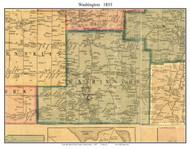 Washington Township, Pennsylvania 1855 Old Town Map Custom Print - Erie Co.