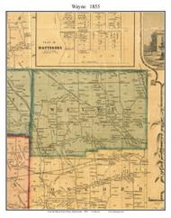 Wayne Township, Pennsylvania 1855 Old Town Map Custom Print - Erie Co.