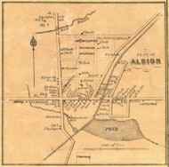 Albion - Conneaut Township, Pennsylvania 1855 Old Town Map Custom Print - Erie Co.